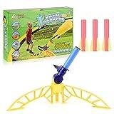 FORMIZON Juguete Lanzador de Cohetes, Juguete de Lanzamiento de Cohete al Aire Libre con 3 Cohetes Actividad al Aire Libre Jugar Kids Toy Set Boys Birthday Gift