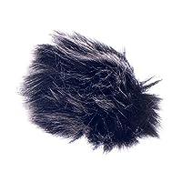 柔らかい ファー マイク 風防 雑音低減 ラベリアマイク ウインドスクリーン 2色2サイズ選べる - 黒 1.5ミリメートル