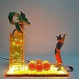 Luz de la noche Lámpara de bola de dragón Invocar el Shenron Led Flash Lighting Modelo Dragon Ball Super Shenlong