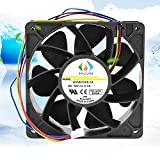 HVVH Dual Ball Bearings High Speed Durable Mini 4Pin DC 12V 2.7A 6000 RPM Cooling Fan Brushless Replacement Case Fan for Antminer Bitmain S7 S9 D3 L3 E9 T9 etc All BTC Miner Server (2.7A 6000RPM)