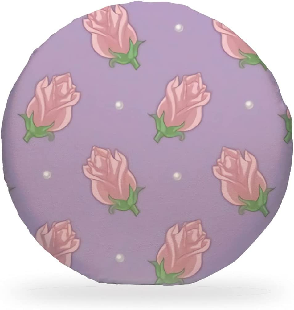 Roses Lavender Round Chair Pad 15 Cash special price Ranking TOP13 Foam Inch Memory Seat Removabl