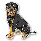 2 x 10cm/100 mm Chien Rottweiler Auto-adhésif Autocollant Vinyle Autocollant pour portable Assurance voiture signer Fun #5982