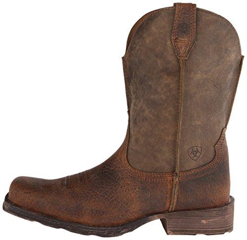 Ariat - Chaussures Rambler Western Western Hommes, 44.5 M EU, Earth/Brown Bomber