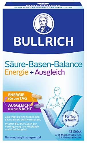 Bullrich Säure-Basen-Balance Energie + Ausgleich | unterstützt das allgemeine Wohlbefinden | 2-Phasen-Konzept, 42 Tabletten