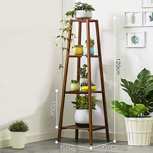 Porte-fleurs Bamboo Landing Multi-layer Rack pour succulentes intérieur Support pour balcon (Couleur : 32 * 32 * 120cm)