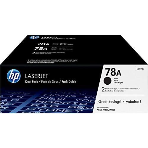 HP 78A CE278AD Toner Compatibile con Stampanti LaserJet Pro P1566, P1606dn, M1530, M1536 e M1536dnf, Nero