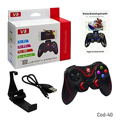 MrDeal Wireless Gaming Controller Gamepad for PC/PS3/Android/IOS/Smart Box/Smart TV/PC/Laptop Supports Windows XP/7/8/10 (Black) - with Clip for Mobile Phones