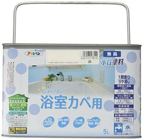 水性インテリアカラー 浴室カベ用 5L