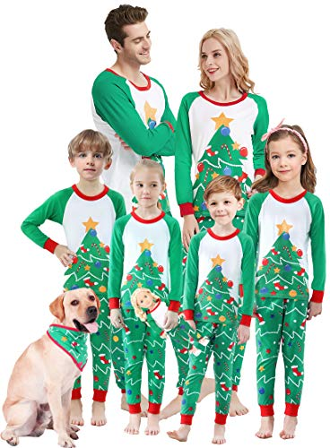 Matching Family Christmas Pajamas Boys Girls Tree Jammies Children Gift Set Size 4