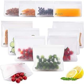 Sacs de stockage alimentaire réutilisables – Sacs de congélation extra épais anti-fuites dégradables – PEVA de qualité FDA...