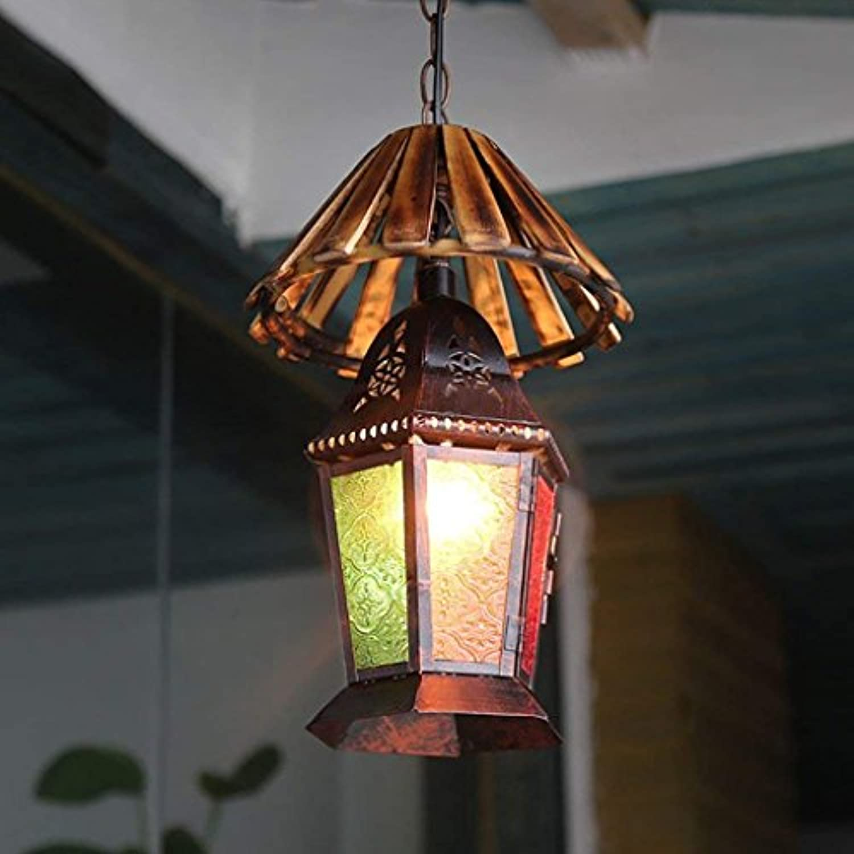 DSJ Kronleuchter Bohemian Bar Antikes Farbiges Glas Restaurant Licht Retro Mediterranean Dekorative Kronleuchter