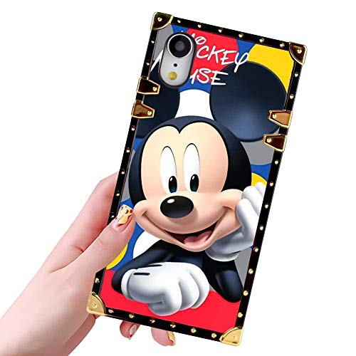 DISNEY COLLECTION Phone Case for iPhone XR 6.1 inch Smile Mickey Glitter Golden Shine Luxury Cool Cartoon Cute Bumper Shockproof iPhone Xr Cover