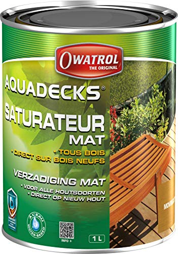 Owatrol-AQUADECKS- Lösemittelfreier Holzschutz,movingui, Gebindegrösse 1 Liter