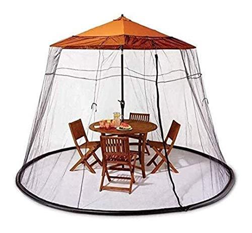 New Parasol Mosquitera Sombrilla Tu sombrilla en un Gazebo Mosquitera para sombrilla, Sombrilla de jardín al Aire Libre Pantalla de Mesa Sombrilla de Exterior Pantalla de Mesa g Sombrilla de Patio So