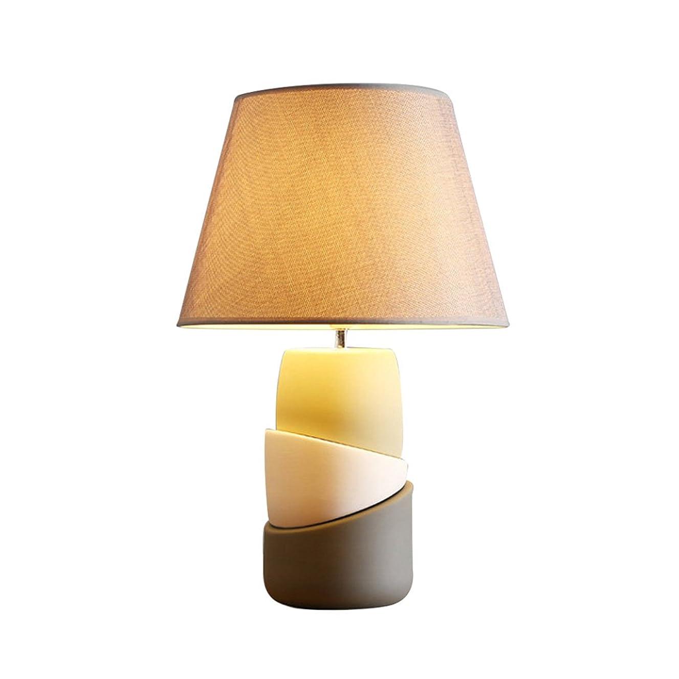 Ceramic lamp bedroom lamp fabric lamp cover creative bedside lamp personality eye Tabletop Lighting