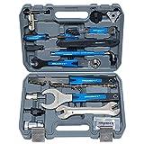 Kit de reparación de bicicletas multifunción, maletín de herramientas, 51 piezas