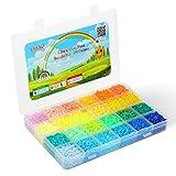 LIHAO Juego de 12000 cuentas para planchar en caja clasificadora, para niños, para manualidades y placas (2,6 mm, 24 colores, estilo claro)