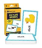 Carson Dellosa | Picture Words Flash Cards | Sight Words, Preschool, 54ct