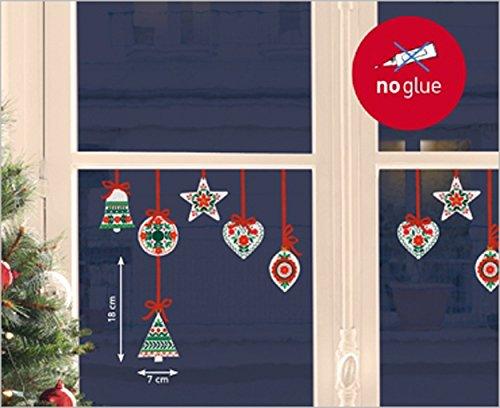 Nouvelles Images Stickers Design Décorations de Noël Folklore/Tradition, Polyvinyle, Multicolore, 32 x 23 x 0,02 cm