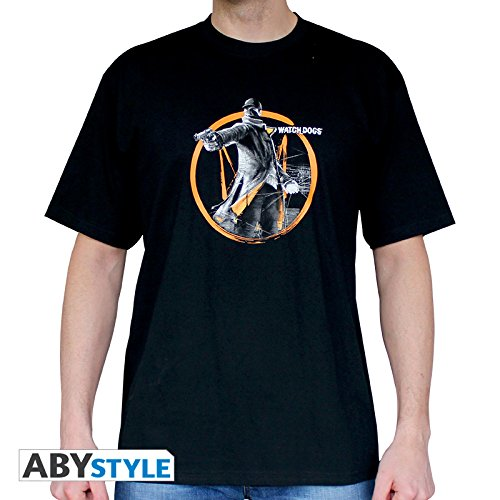 ABYstyle - WATCH DOGS - T-shirt - 'Fox Tag' - Uomo - Nero (M)