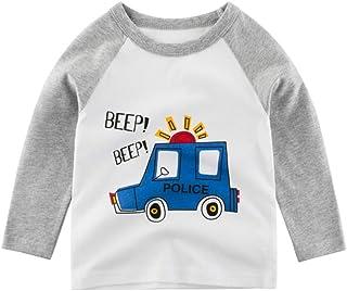 K-Youth para 1 a 7 años Ropa Bebe Niño Invierno Otoño Coche de Dibujos Animados Camiseta Manga Larga Bebe Blusa de Niños R...