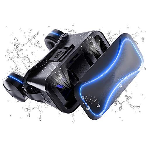 Bias&Belief VR-Brille,Virtual Reality Headset,Anti-Blaue Linse,Doppelte Anpassung des Pupillen- und Objektabstands,für 4,5-6 Zoll Handy