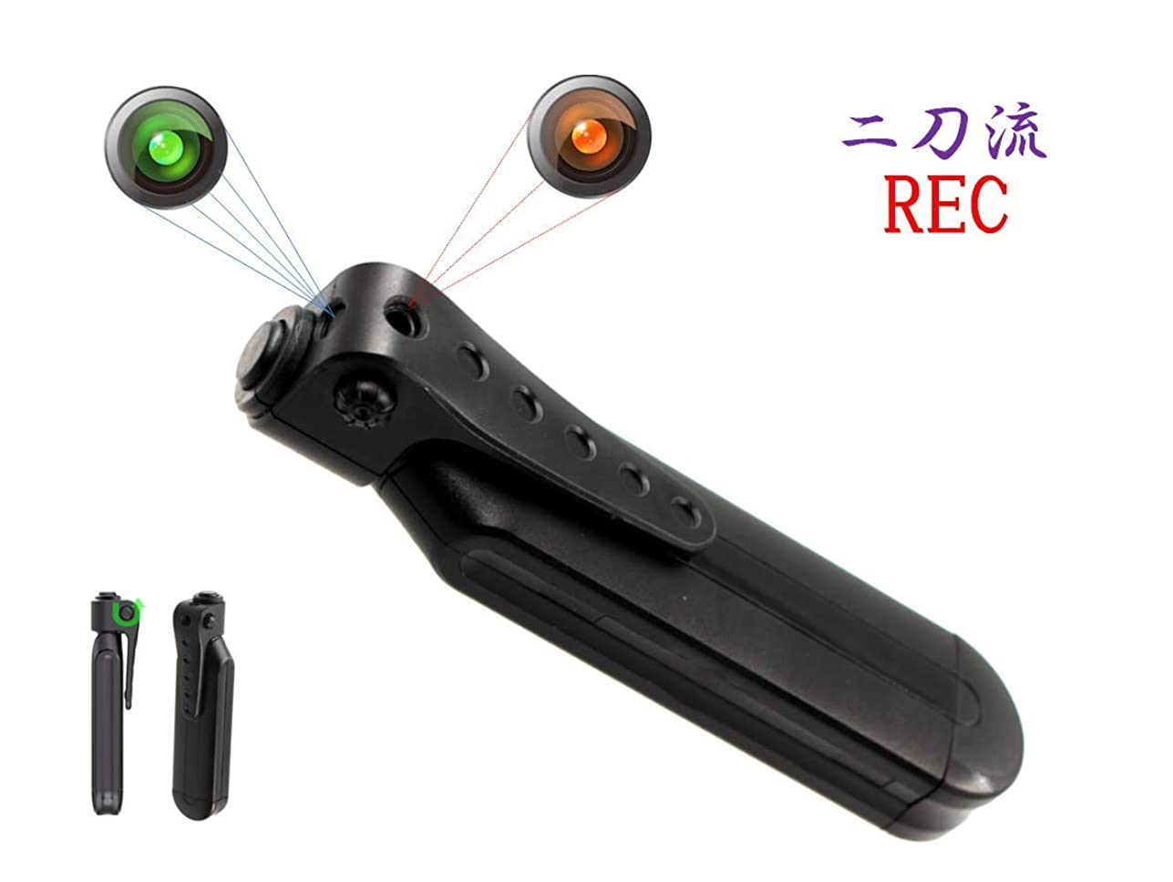 衣装傷つきやすいセンブランスNewstar 小型カメラ スパイカメラ 高画質 ペン クリップ型 長時間 隠し 防犯 アクション カメラ