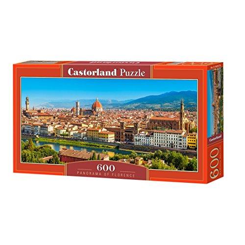 Castorland- Panorama of Florence Puzzle 600 Pezzi, Multicolore, B-060078
