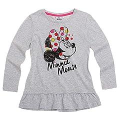 Minnie Mouse Niñas Manga Larga Camiseta – Gris