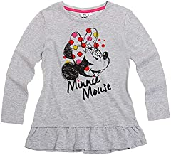 Minnie Mouse Niñas Manga Larga Camiseta – Gris