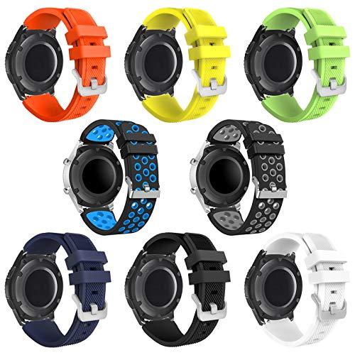 kytuwy Gear s3 Frontier Correa - 22mm Correa de Reloj Galaxy Watch 46mm Pulsera de Repuesto para Galaxy Watch 3 45mm/Gear s3 Frontier/Gear s3 Classic Smartwatch. (8 Pack)