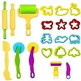 Knetwerkzeug Teig Plastilin Werkzeuge,20 Kinder Knete Zubehör Spielzeug,Vielseitiges Knete Werkzeug...