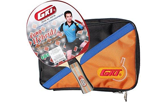 GKI Euro Hybridz Wood Table Tennis Racquets-Multicolour