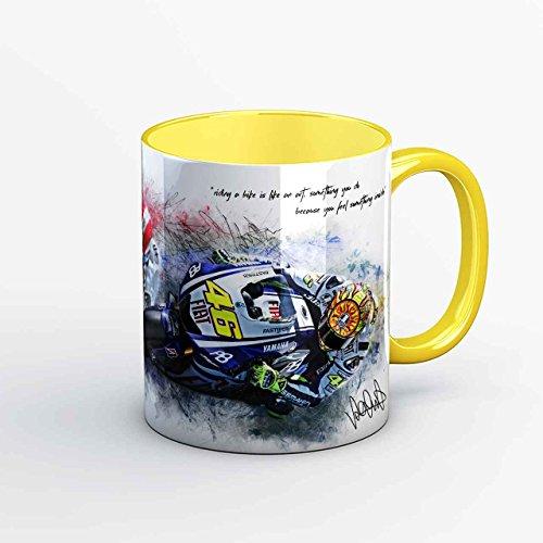 GP-Tasse 01 - Valentino Rossi und Marco Simoncelli - Dreamteam gelb