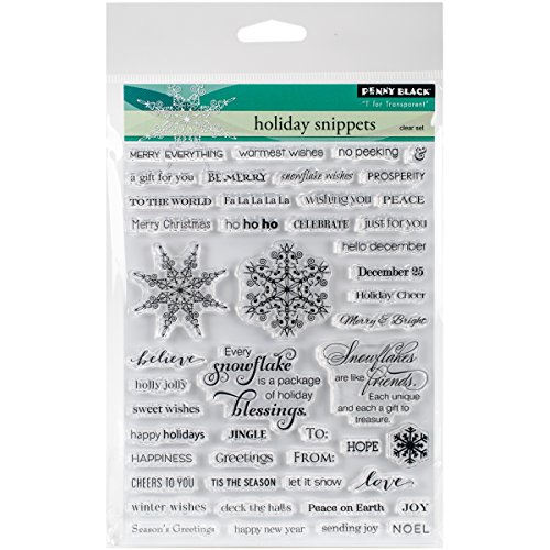 Penny Black 30-307 Holiday Snippets Transparent Decorative Rubber Stamp Set