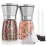 KYONANO Salz und Pfeffer Mühle, Salz und Pfeffer Streuer 2er Set mit Verstellbarem Keramikmahlwerk,...