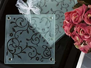 Frosted Elegance Damask Design Coaster Favor C824 Quantity of 1 by Cassiani