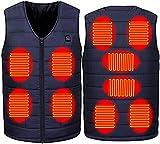LUOQI Gilet Riscaldato Elettrico USB Giacche Cappotti Gilet da Uomo personalit Uomini Giubbino,Uomo Inverno Piumino Uomo Giacca Piuma Vestiti Panciotto Smanicato Caldo Gilet Riscaldamento