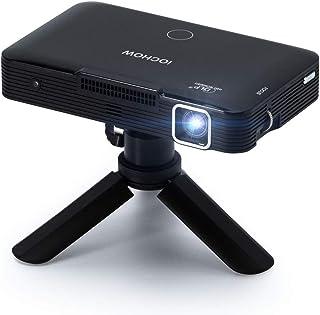 iOCHOW iO5 ミニ プロジェクター 小型 DLP 2200ルーメン ネイティブ解像度1280*720 1080PフルHD対応 自動台形補正 100インチ大画面 パソコン/スマホ/タブレット/ゲーム機/DVDプレイヤーなど接続可能 HDM...
