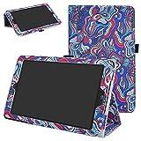 Mama Mouth PU Leder Folio 2-Folding Ständer Cover mit Stylus Halterung für 20,3cm LG G Pad X II 8.0Plus T-Mobile V530Android 7.0Tablet Mushroom Fantasy