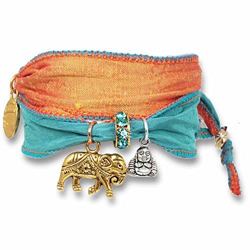 Anisch de la Cara Armband Peache Delight - Joy & Happiness Glücksarmband aus indischen Saris Joy & Happiness - ArtNr. 2210-f