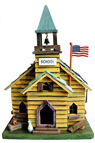 Vogelhaus/Vogelhäuschen/Futterhaus/Nistkasten Holz als Schule für Balkon/Garten/Terasse 24*17*35cm