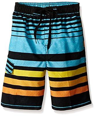 Kanu Surf Boys' Little Quick Dry UPF 50+ Beach Swim Trunk, Echo Aqua, 7