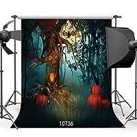 GooEoo怖い森ハロウィン背景8×8フィートビニール写真カスタマイズ写真背景スタジオプロップ10736