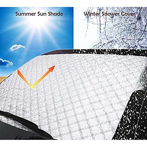 AllRight Autoscheibenabdeckung Frontscheibenabdeckung Sonnenschutz Scheibenabdeckung Auto Windschutzscheibe Sonnenschutz UV-Schutz Abdeckung Sonnenblende Frontscheibe Frostabdeckung (XL 147 * 100CM)