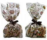Cello Cookie Treat Party Favor Gift Bags with Ribbon - Premium Cellophane – Perfect for Bake Sale...