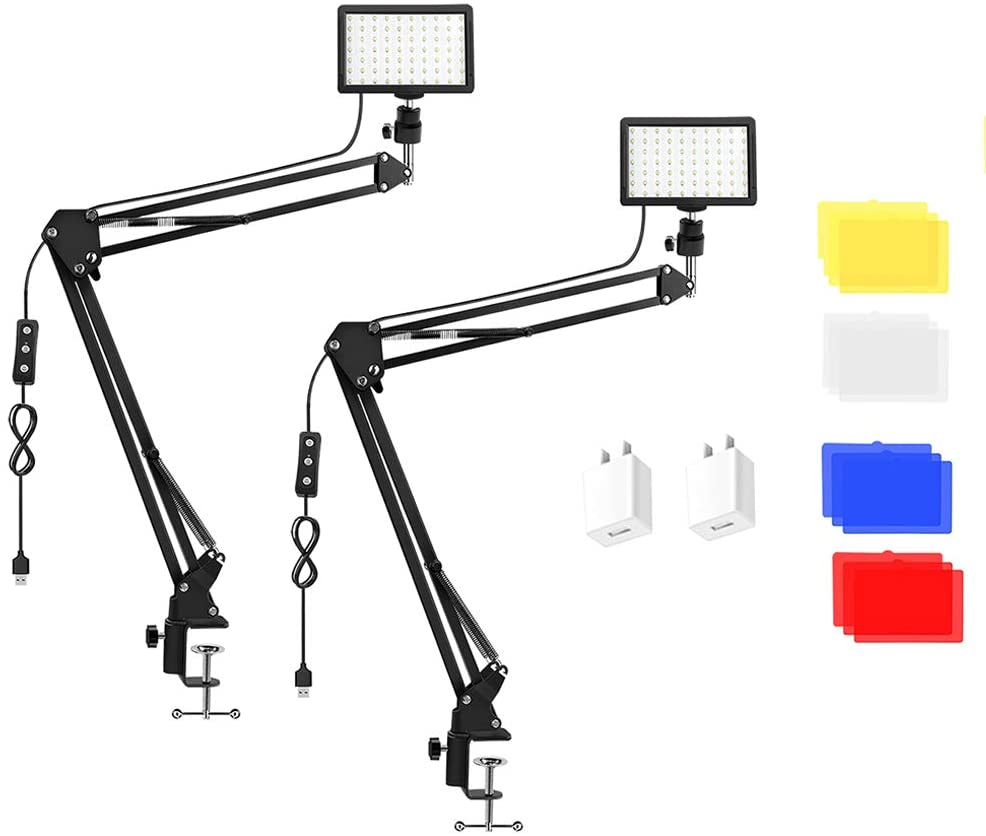 2 Packs 70 LED Video Conference Popular popular service Clamp Arm with Scissor Lighting