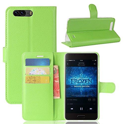 Litao-Case CN Hülle für Blackview P6 hülle Flip Leder + TPU Silikon Fixierh Schutzhülle Case 5