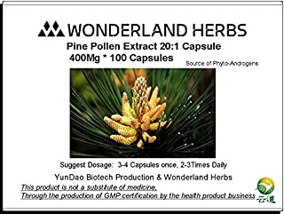 WonderLand Herbs Wild Herbal Pine Pollen Extract 20:1 Capsule 400mg x 100caps