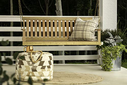 Jack Post Jennings Traditional 4-Foot Swing Seat with Chains in Unfinished hardwood